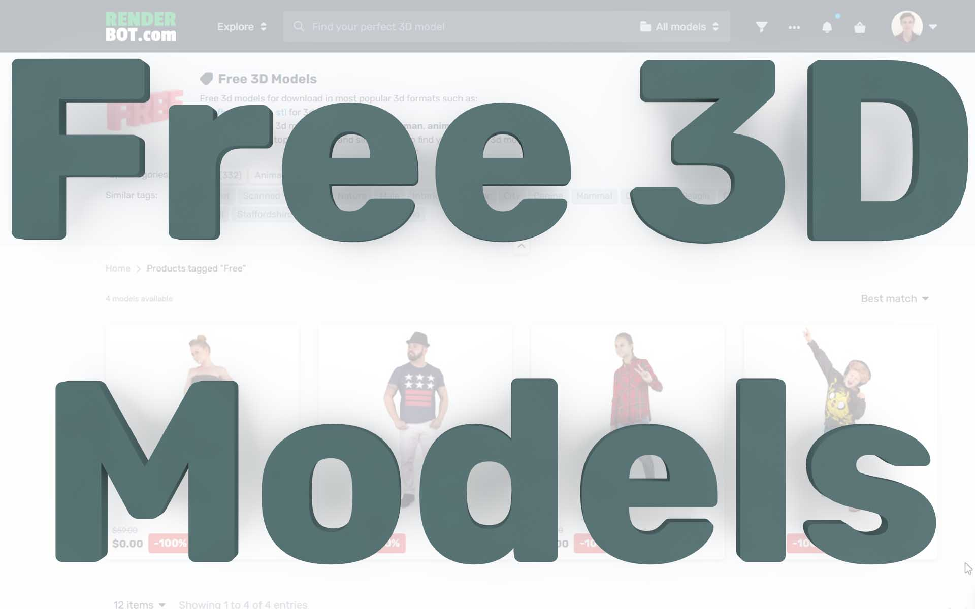 Case of free 3d models. How to download and use 3d models for free