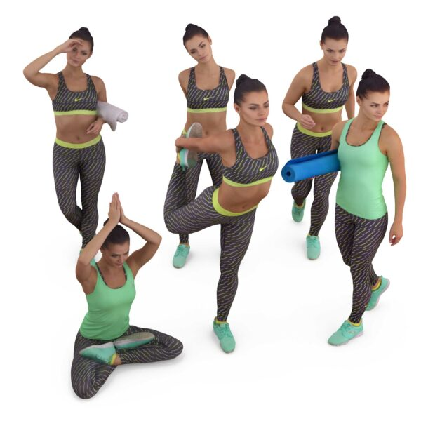 Fitness 3d woman collection