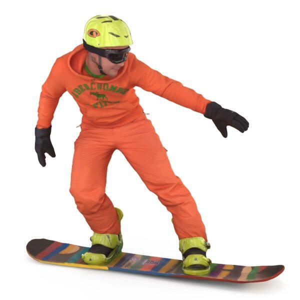 Snowboarder 3d man scanned 3d model - Renderbot