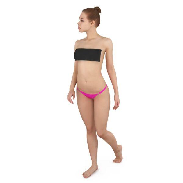 Topless woman 3d model scanned - Renderbot