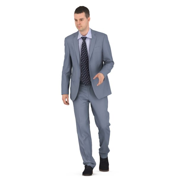 Businessman 3d walking scanned 3d model - Renderbot