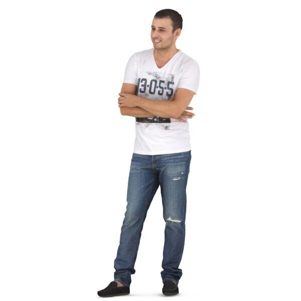 3d man closed pose scanned 3d model - Renderbot