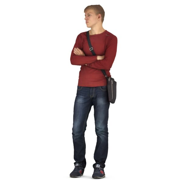 3d man casual dress scanned 3d model - Renderbot
