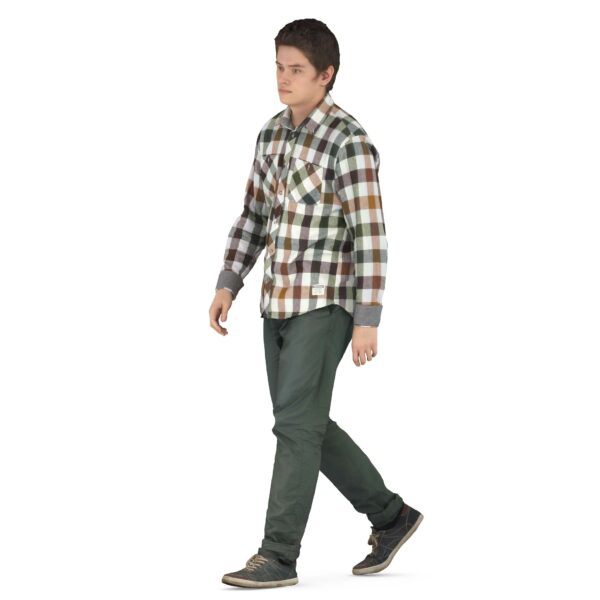 3d man walking pose scanned 3d model - Renderbot