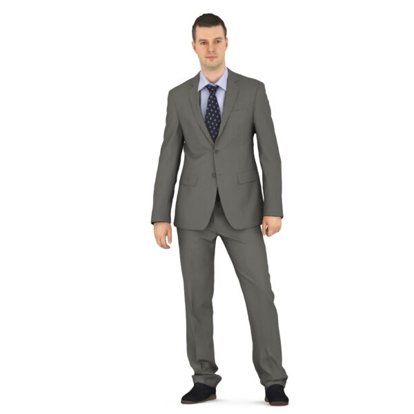 Businessman 3d standing pose scanned 3d model - Renderbot