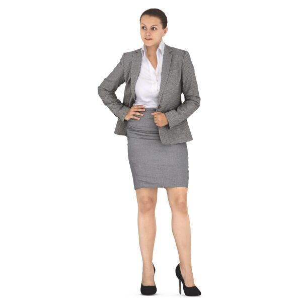 Businesswoman 3d standing scanned 3d model - Renderbot