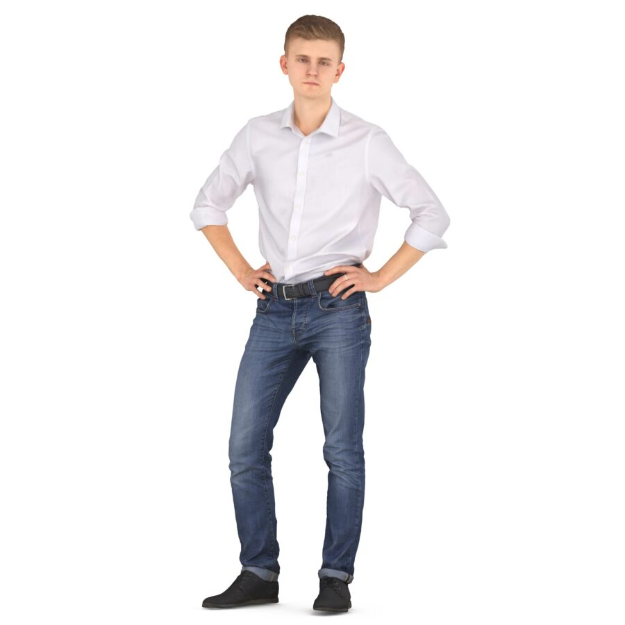 3d man in casual clothes scanned 3d model - Renderbot