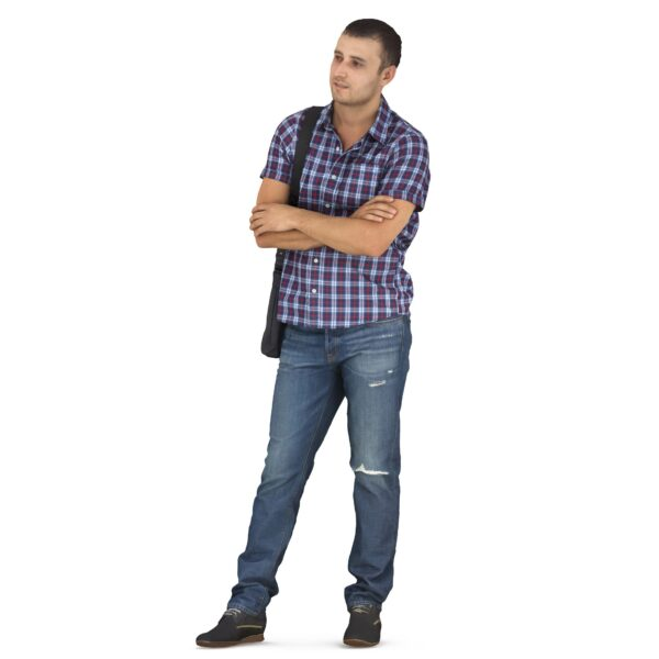 3d person casual clothes scanned 3d model - Renderbot