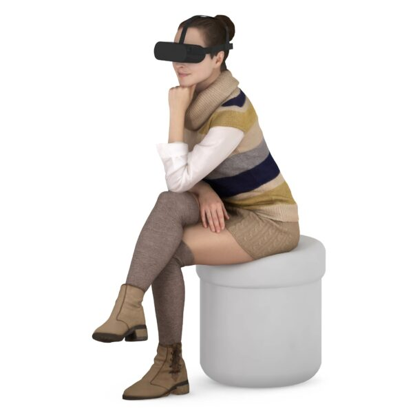 3d scanned woman and VR glasses - scanned 3d model - Renderbot