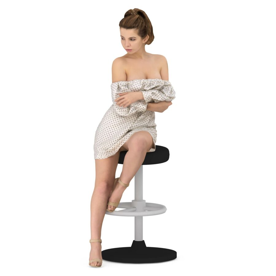 Sexy woman sitting - scanned 3d model - Renderbot