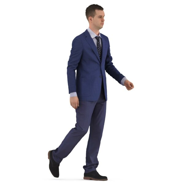 Businessman 3d walking pose scanned 3d model - Renderbot