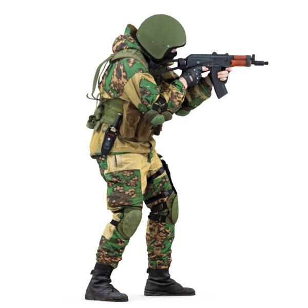 3d man in camouflage uniform scanned 3d model - Renderbot