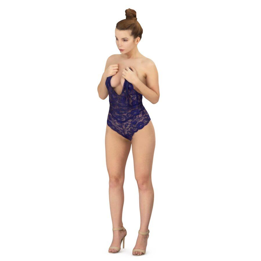 Sexy underwear woman 3d model - scanned 3d model - Renderbot
