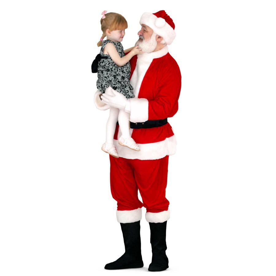 Santa with girl 3d models - scanned 3d model - Renderbot