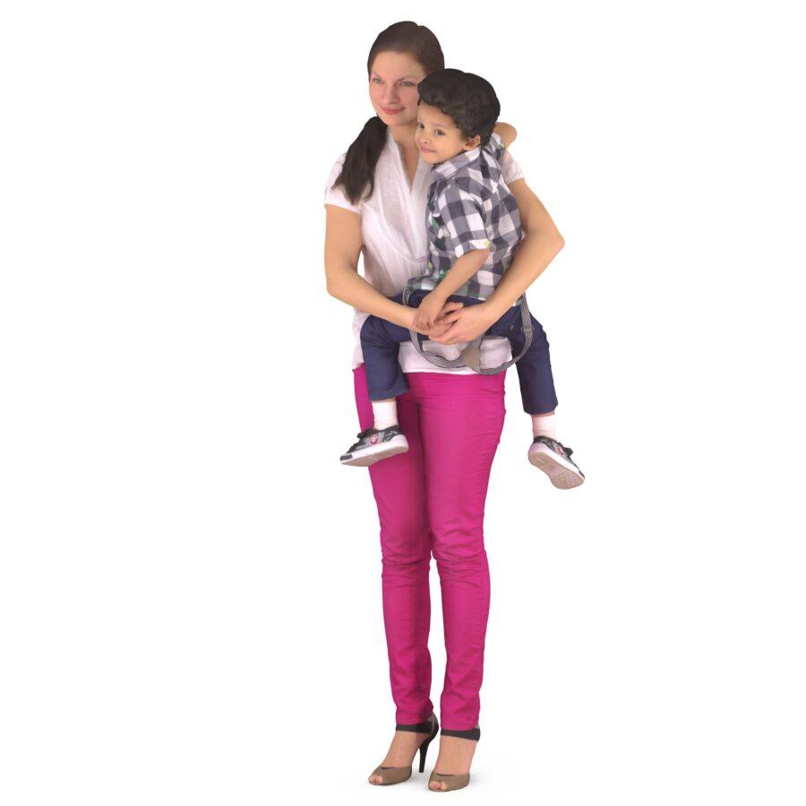 Mom and son 3d models - scanned 3d model - Renderbot