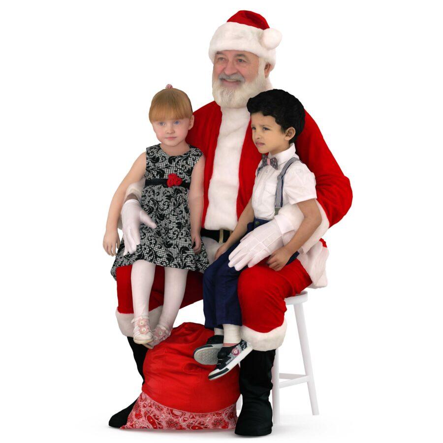 Santa with children 3d models - scanned 3d model - Renderbot