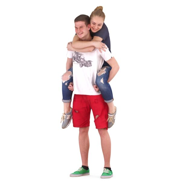 Girl riding a guy 3d models - scanned 3d model - Renderbot