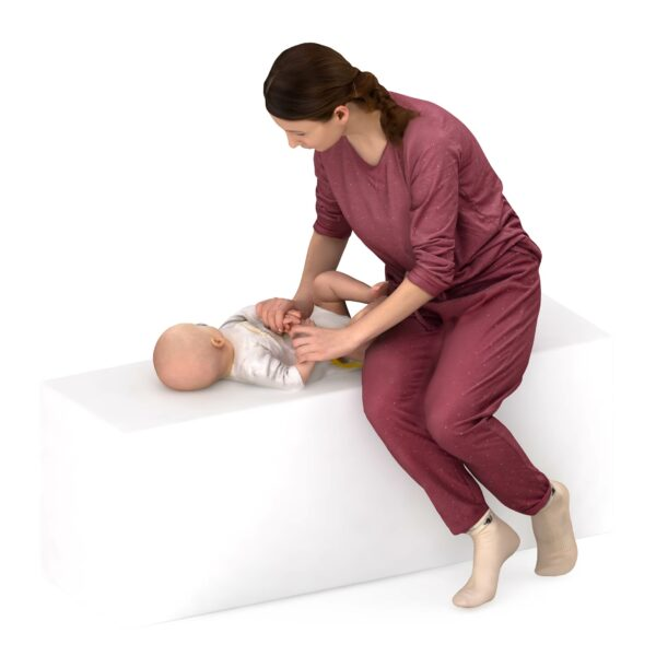 3d scanned woman and child - scanned 3d model - Renderbot