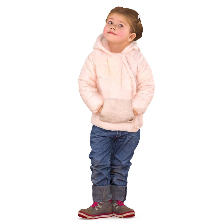 3d girl in winter clothes - scanned 3d model - Renderbot