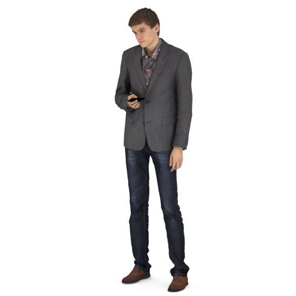 Scanned 3d guy standing pose - scanned 3d model - Renderbot