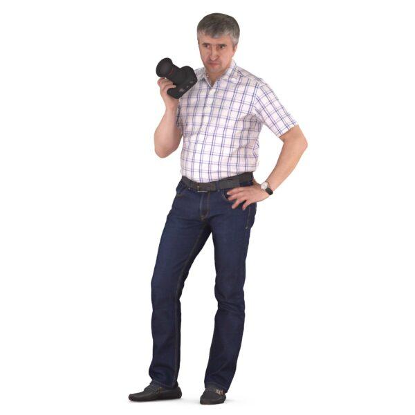 3d scanned cameraman - scanned 3d model - Renderbot