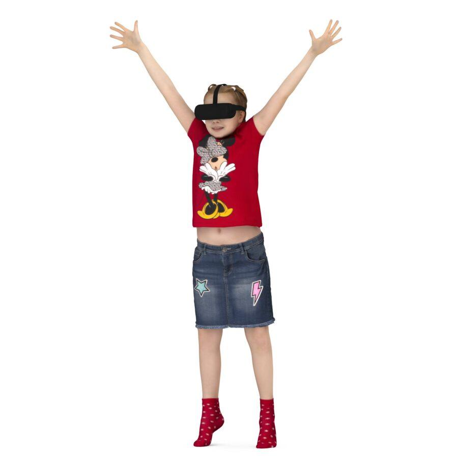 3d scanned girl in VR glasses - scanned 3d model - Renderbot
