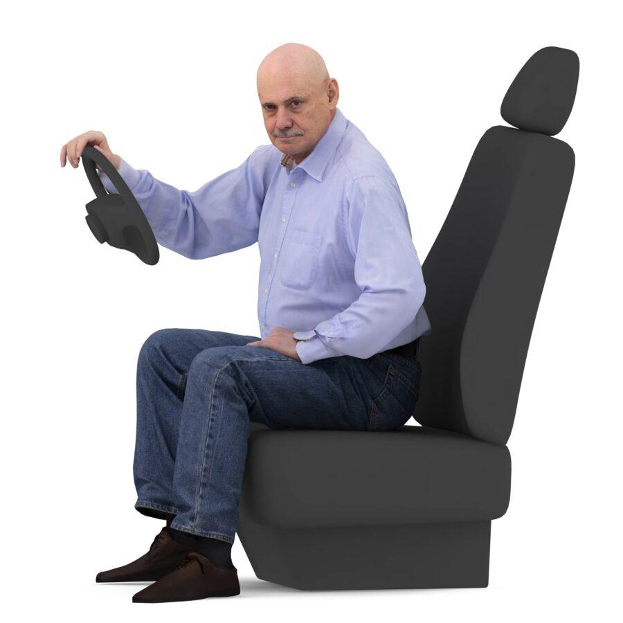 Driver 3d oldman - scanned 3d model - Renderbot