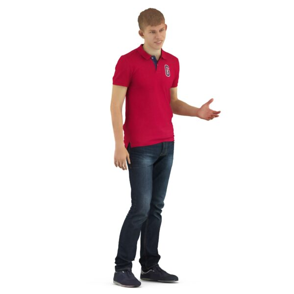 Scanned 3d guy casual clothes - scanned 3d model - Renderbot