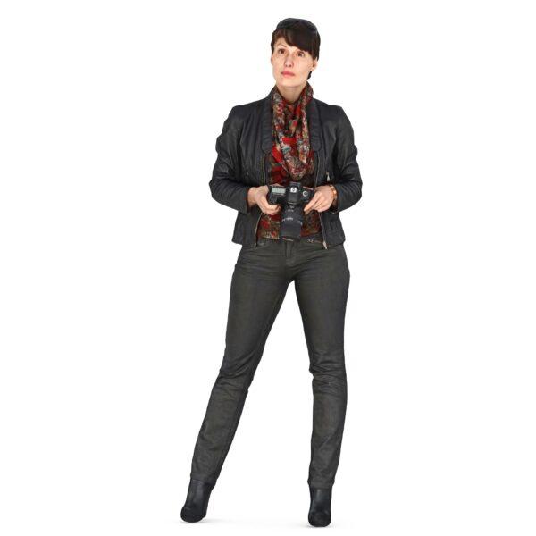3d woman photographer - scanned 3d model - Renderbot