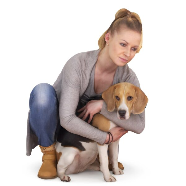 Girl and beagle 3d models