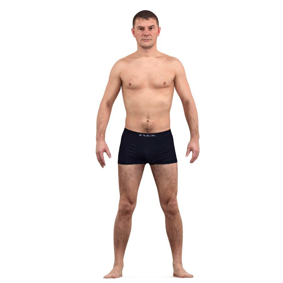 3d scanned man apose scanned 3d model - Renderbot