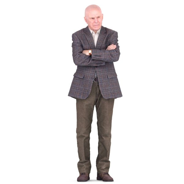 3d man in business suit closed pose - scanned 3d models - Renderbot