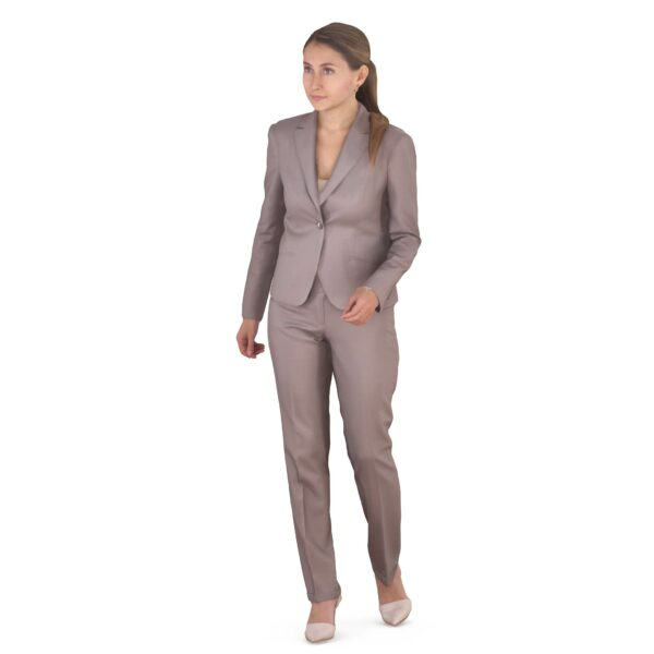 3d woman in business suit walking pose - scanned 3d models - Renderbot