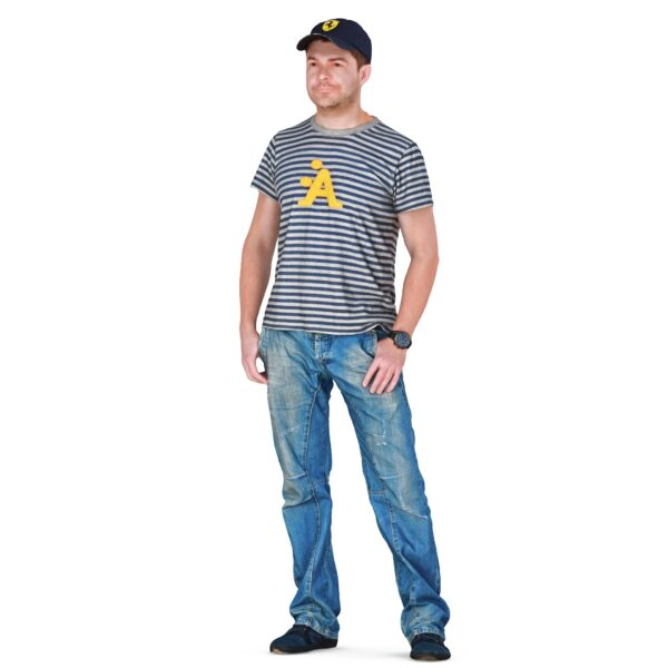 3d man in jeans and t-shirt - scanned 3d models - Renderbot