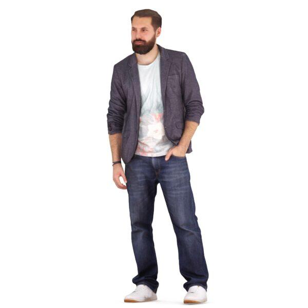 Bearded 3d man - scanned 3d models - Renderbot