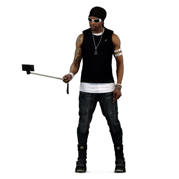 3d dude with selfie stick - scanned 3d models - Renderbot