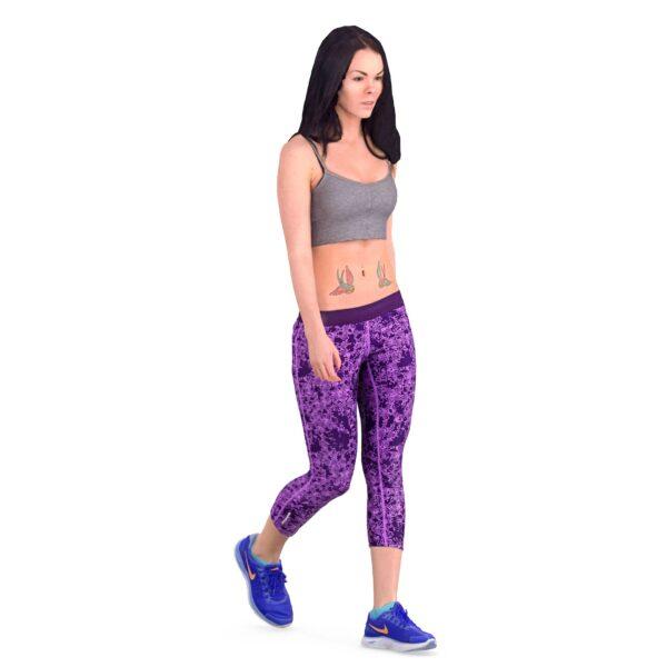 3d woman in sportswear - scanned 3d models - Renderbot