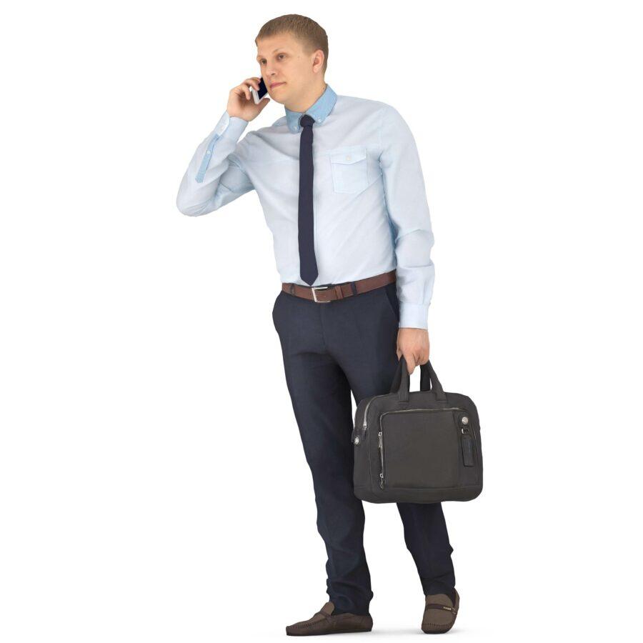 3d man talking on the phone - scanned 3d models - Renderbot