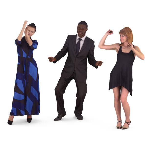 Dancing 3d people - scanned 3d models - Renderbot