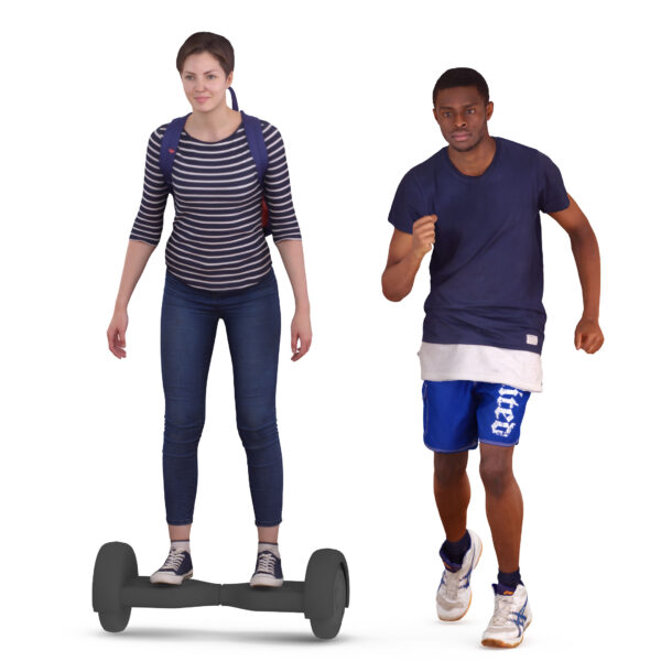 3d people walk in the park - scanned 3d models - Renderbot