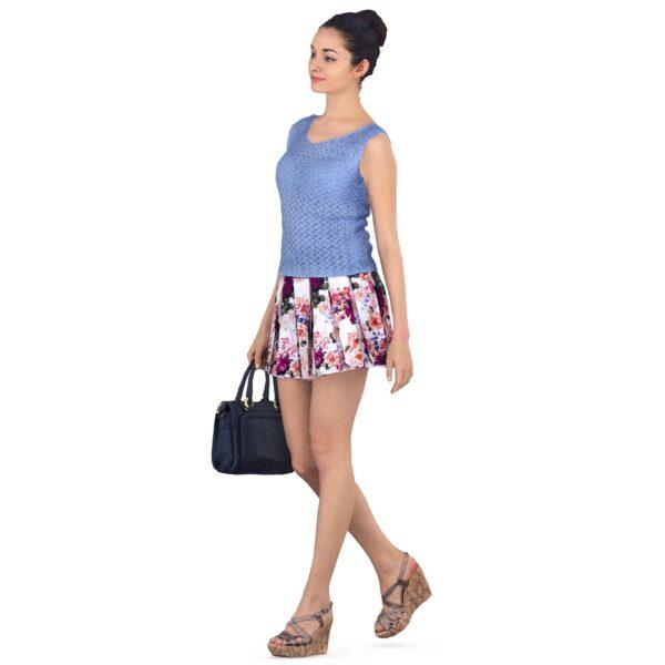 3d girl with a handbag walking - scanned 3d models - Renderbot