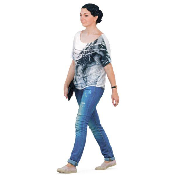 3d woman walking - scanned 3d models - Renderbot