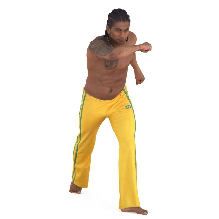 Capoeira guy - scanned 3d models - Renderbot
