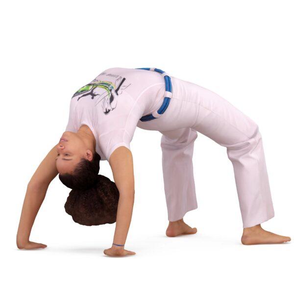 3d girl doing exercise bridge - scanned 3d models - Renderbot