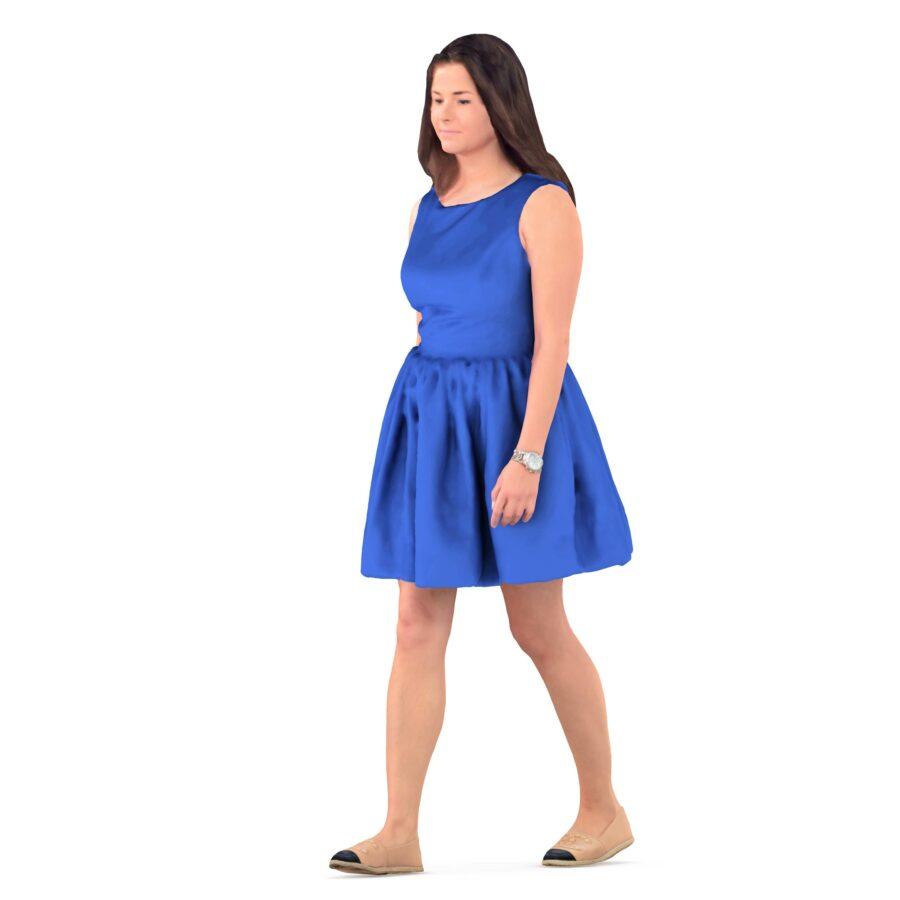 3d woman walking position - scanned 3d models - Renderbot