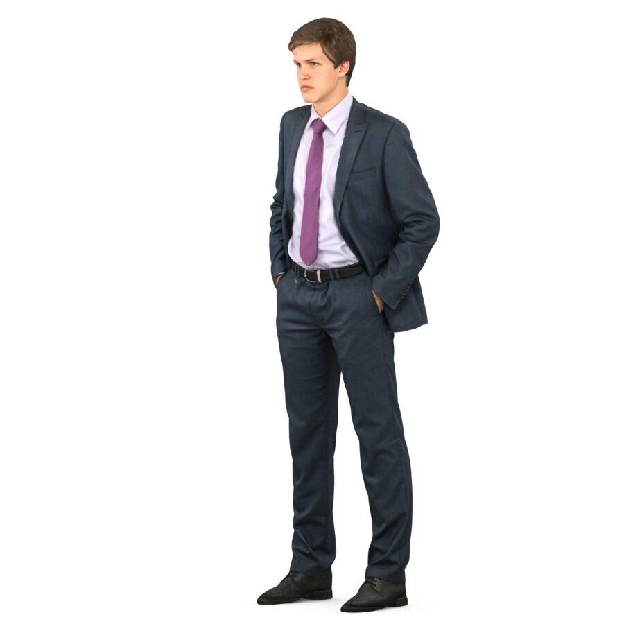 3d guy in a suit hands in pockets - scanned 3d models - Renderbot