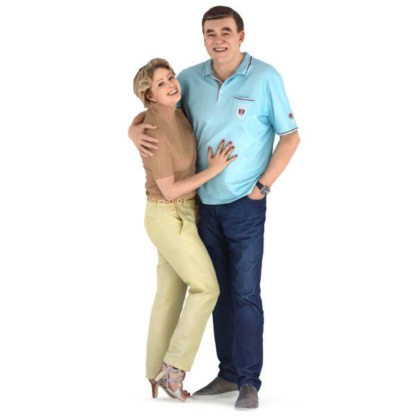 Married couple 3d people - scanned 3d models - Renderbot