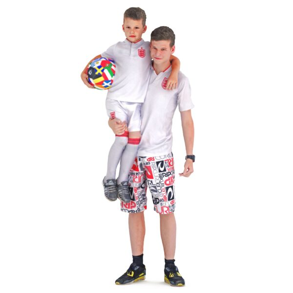 3d boys with ball posing - scanned 3d models - Renderbot