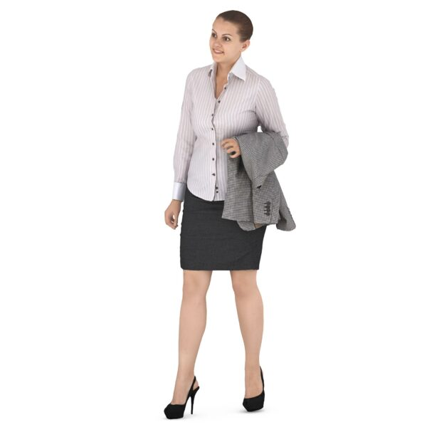 3d scanned woman in business suit - scanned 3d models - Renderbot