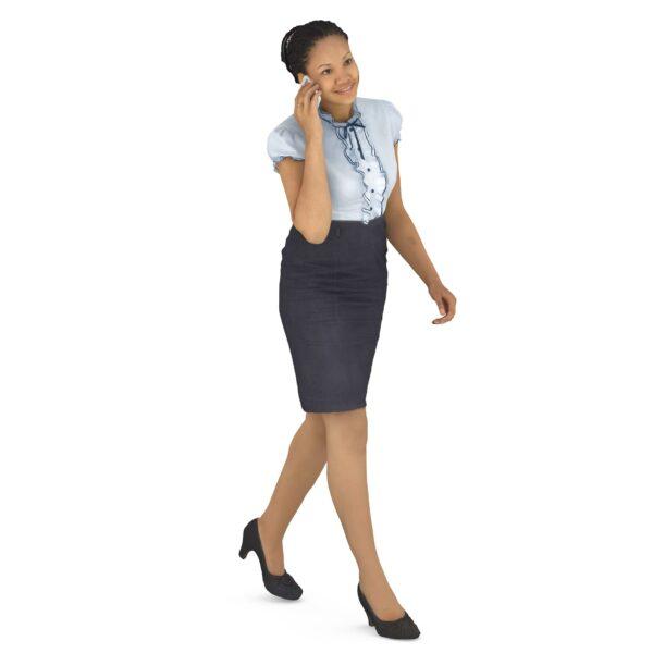 3d scanned woman in business suit walking - scanned 3d models - Renderbot